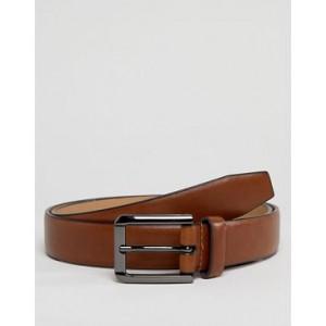 River Island smart faux leather belt in tan