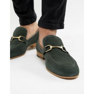 River Island suede loafer in green