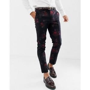 River Island suit pants in dark floral print