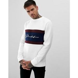 River Island sweatshirt with prolific print in white