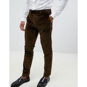River Island velvet suit pants in gold