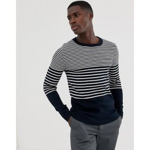 Selected Homme knitted stripe sweater