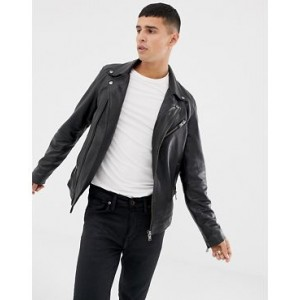 Selected Homme leather biker jacket