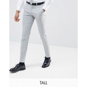 Selected Homme Skinny Fit Suit PANTS In Gray Check