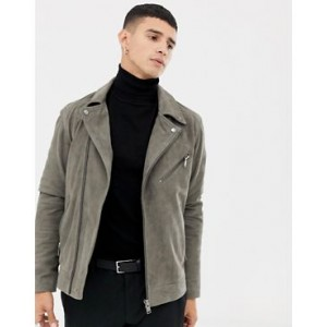 Selected Homme suede biker jacket