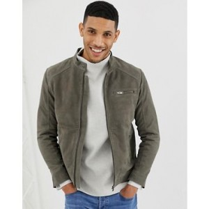 Selected Homme suede racer jacket