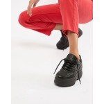 Steve Madden Girla black leather chunky sneaker