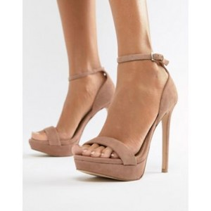Steve Madden Sarah suede heeled sandals in blush