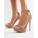 Steve Madden Sarah suede heeled sandals in blush