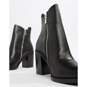 Steve Madden Tasha Leather Side Zip Heeled Boot