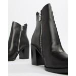 Steve Madden Tasha Leather Side Zip Heeled Boot