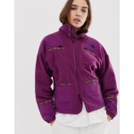 The North Face 92 Rage full zip fleece in purple recycled polyester