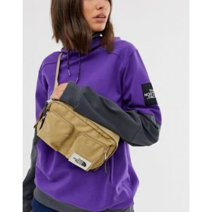 The North Face Kanga fanny pack in green recycled polyester