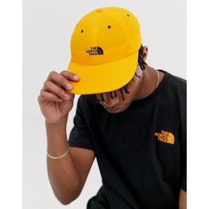 The North Face Throwback Tech cap in orange