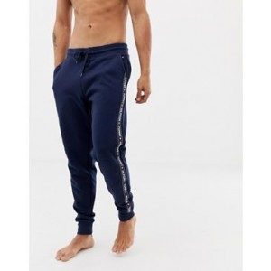 Tommy Hilfiger authentic cuffed sweatpants side logo taping in navy