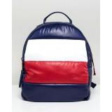 Tommy Hilfiger flag padded backpack
