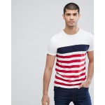 Tommy Hilfiger Nas Icon Varied Stripe T-Shirt in White