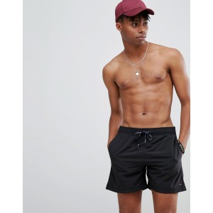 Tommy Hilfiger swimshorts with flag logo in black