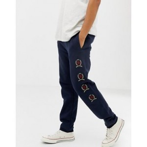 Tommy Jeans 6.0 Limited Capsule sweatpants with repeat crest logo in navy