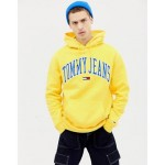 Tommy Jeans relaxed fit collegiate capsule hoodie in yellow