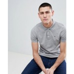 Tommy Jeans slim fit pique polo shirt in gray