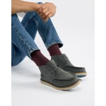 TOMS chukka waterproof lace up boots in grey suede