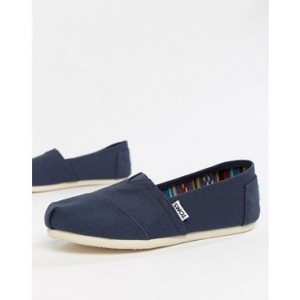 TOMS Classic Navy Canvas Shoes