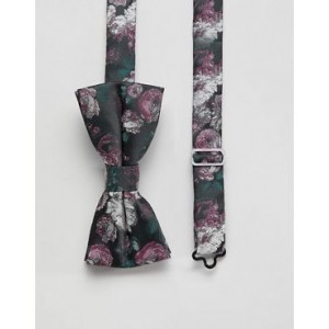 Twisted Tailor bow tie in pink floral jacquard
