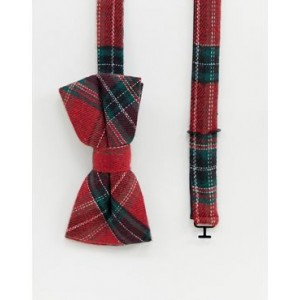 Twisted Tailor bow tie in red plaid