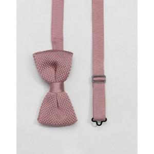 Twisted Tailor knitted bow tie in dusty pink