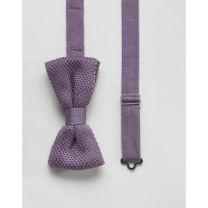 Twisted Tailor knitted bow tie in purple