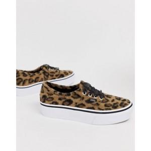 Vans Authentic leopard platform sneakers
