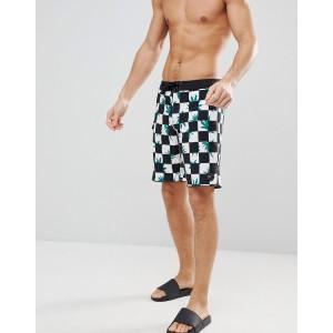 Vans Checkerboard Swimshorts In Black V006IKPL5