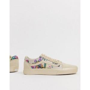 Vans Old Skool cream floral sneakers