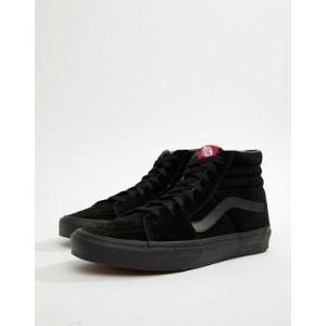 Vans Sk8-Hi suede sneakers in black vd5ibka