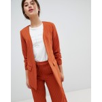 Vila pin stripe ruche sleeve tailored jacket