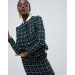 Warehouse box jacket in tweed two-piece