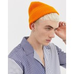 Weekday Frank Knit beanie in orange