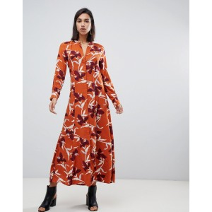 Y.A.S bold floral shirt maxi dress