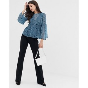 Y.A.S flared pants with seam detail