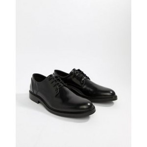Zign chunky lace up shoes in black high shine