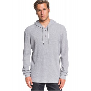 Rio Real Waffle Knit Long Sleeve Hooded Top