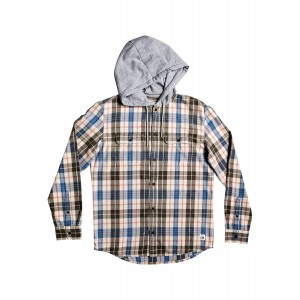 Mitta Tang Long Sleeve Hooded Flannel Shirt