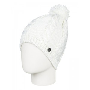 Girls 7-14 Shooting Star Pom-Pom Beanie