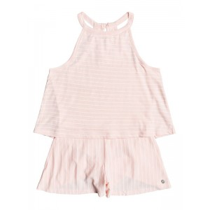Girls 7-14 Misty Afternoon High-Neck Layered Romper