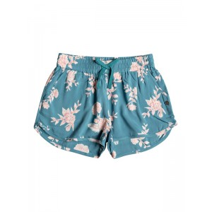 Girls 7-14 Tropical Forest Beach Shorts