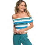 Extra Tropical Love Off-The-Shoulder Crop Top