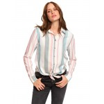 Suburb Vibes Long Sleeve Tie-Front Shirt