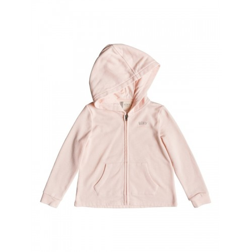 록시 Girls 2-6 Pink Knot A Zip-Up Hoodie