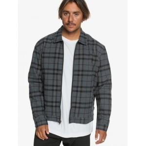 Check Drop Shoulder Zip-Up Jacket 192504624957